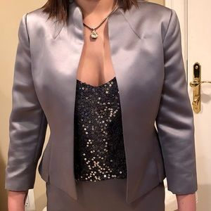 Tahari Silk Satin Holiday suit